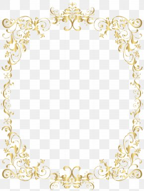 Border Gold Decorative Frame Clip Art - Image File Formats Lossless Compression PNG