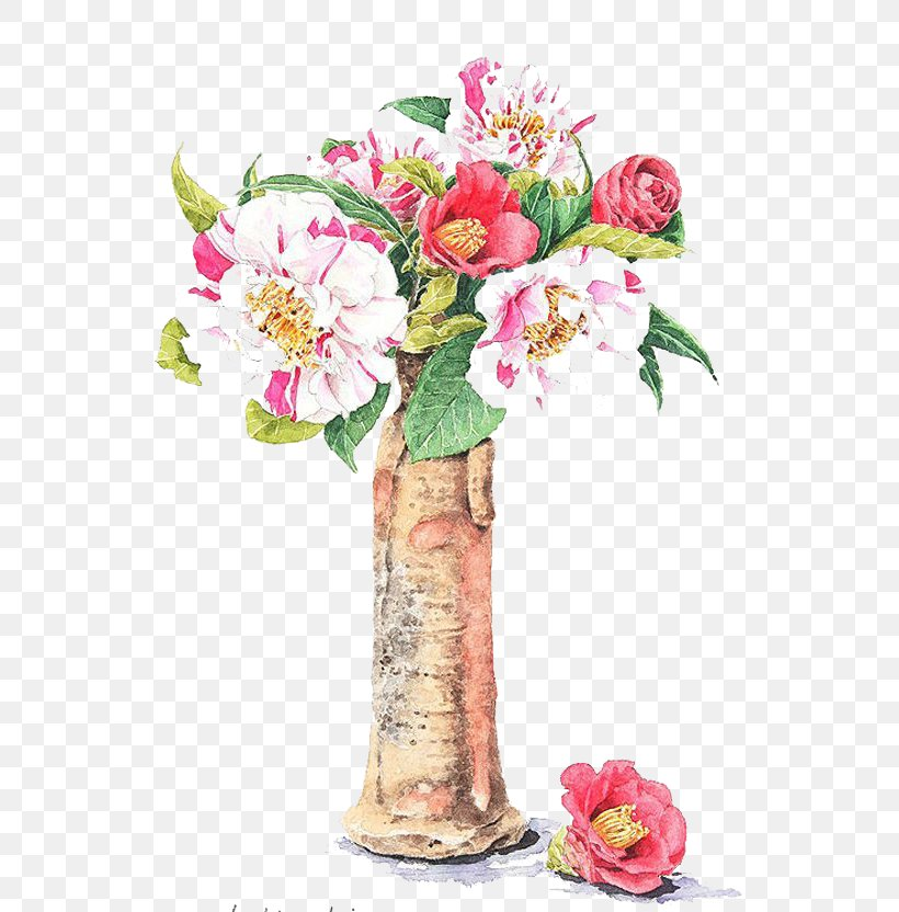 Watercolor Painting Flower Illustration, PNG, 600x832px, Creative Watercolor, Artificial Flower, Blossom, Centrepiece, Cut Flowers Download Free
