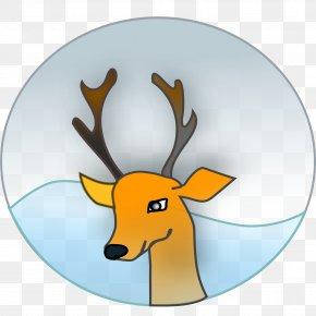 Reindeer - Reindeer Santa Claus Rudolph Christmas Clip Art PNG