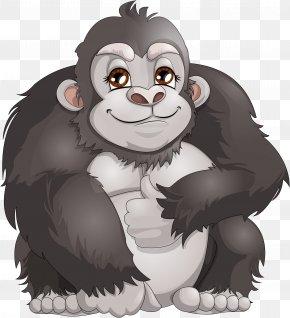 Gorilla - Western Gorilla Ape Chimpanzee Monkey Clip Art PNG