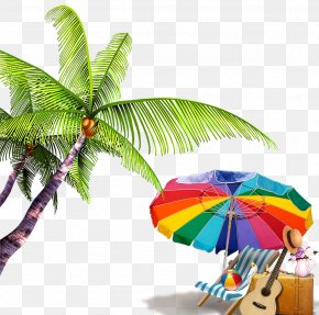 Summer Beach Background Elements - Beach Download Computer File PNG