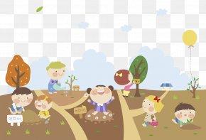 Flowers Kids Cartoon Illustrations - Cartoon Photography Illustration PNG