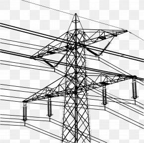 High Voltage Tower - Electricity Overhead Power Line Electric Power Transmission Transmission Tower PNG