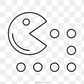 Pacman - Pac-Man Pong Coloring Book Drawing Clip Art PNG