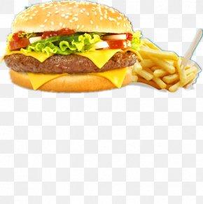 Beef Burger And Fries - Hamburger Hot Dog Cheeseburger Veggie Burger French Fries PNG