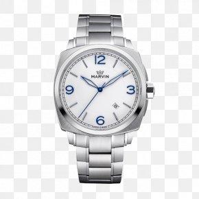 Mount Grain Blue Steel Needle Quartz Watch - Platinum Watch Strap Cobalt Blue PNG