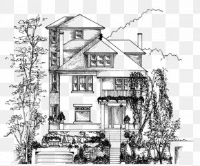 House Sketch - House Drawing Building Home Sketch PNG