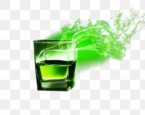 Green Flame Wine - Light Green Flame PNG
