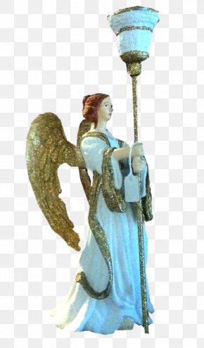 Angel Sculpture Menorah - Angel Sculpture Statue PNG