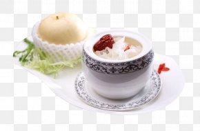 Rock Sugar Tremella Stewed Sydney - Rock Candy Cappuccino Edible Birds Nest Dessert Coffee Cup PNG