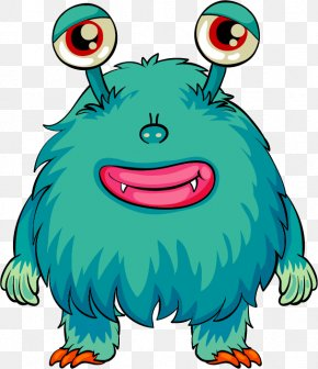 Vector Cartoon Monster - Alien Monster Child Drawing PNG