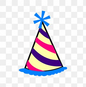 Cartoon Birthday Hat - Party Hat Birthday Clip Art PNG