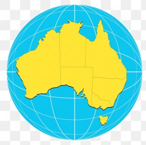 Earth Australia - Australia Globe World Map Stock Photography PNG