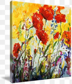 Painting - Floral Design Watercolor Painting Art Canvas Print PNG