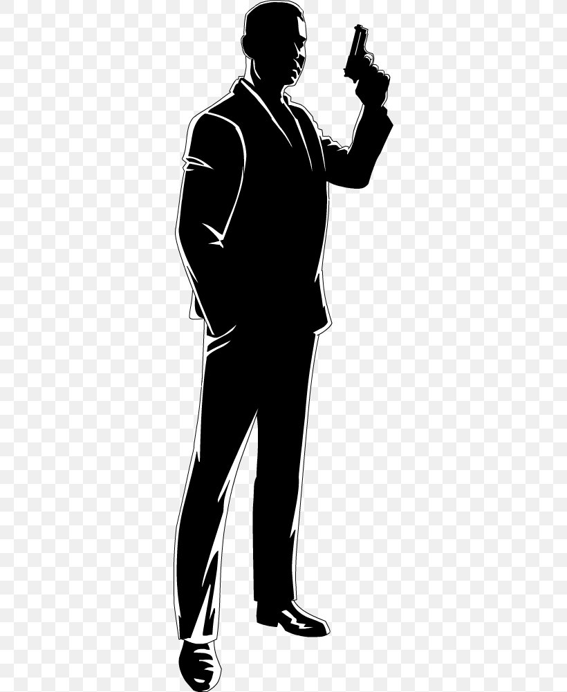 James Bond Cartoon Silhouette Drawing Animation Png