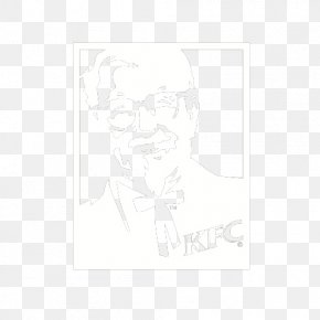 White Kentucky Fried Chicken Grandfather Mark - Download Black And White Pattern PNG