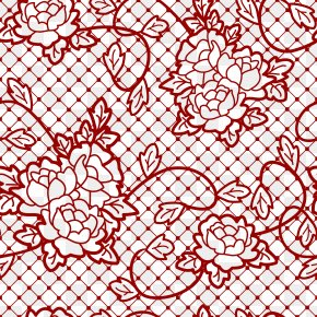 Transparent Decorative Lace With Roses Picture - Lace Clip Art PNG