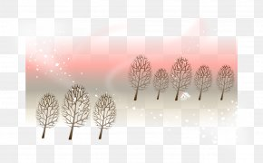 Vector Pink Poster Winter Background Factors - Tree Pattern PNG