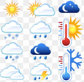 Blue Weather Icon - Lightning Weather Icon PNG