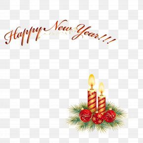 Happy New Year Candles - Christmas Ornament New Year Candle PNG