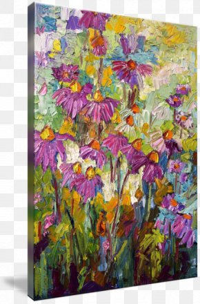 Watercolor Painting Purple - Floral Design Oil Painting Modern Art PNG