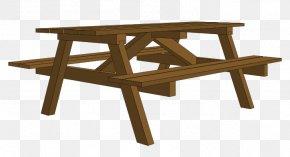 Rectangle Garden Cliparts - Picnic Table Garden Clip Art PNG