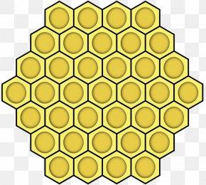 Cute Beehive - Western Honey Bee Beehive Hexagon Honeycomb PNG