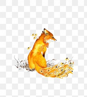 Fox - Watercolor Painting Drawing Fox PNG
