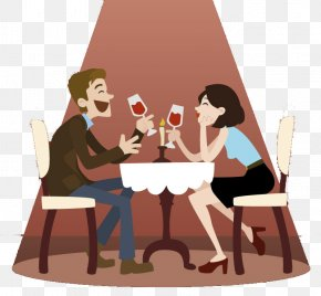 Wine Dinner Vector Material - Flirting Guide: How To Start Conversations And Flirt Like A Pro Romance Love Download YouTube PNG