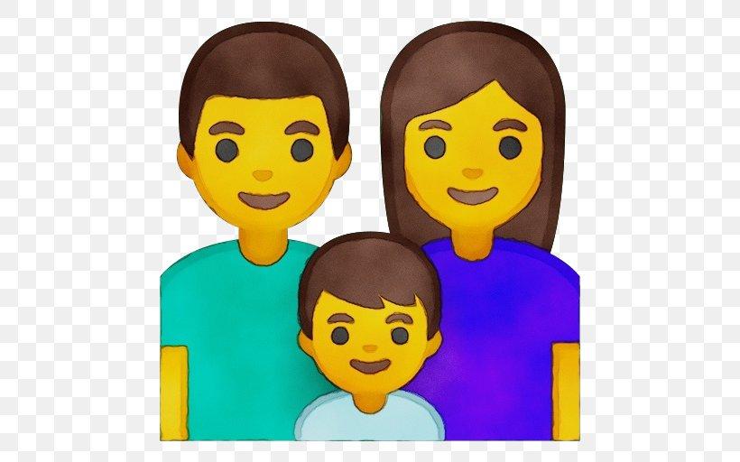 Happy Family Cartoon Png 512x512px Emoji Animation Cartoon Cheek Child Download Free