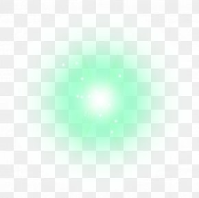 Green Halo White Point Effect Element - Light Green White Point Halo PNG