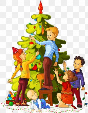 Christmas Holiday - Christmas Tree Christmas Decoration Santa Claus Clip Art PNG