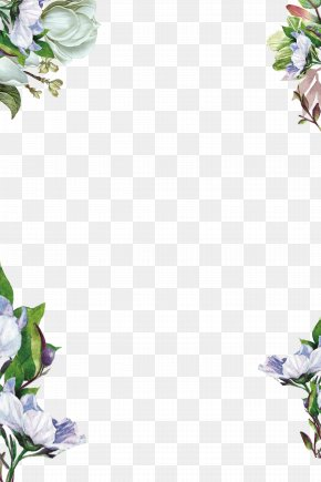 Hand Painted Flowers Background - Flower PNG