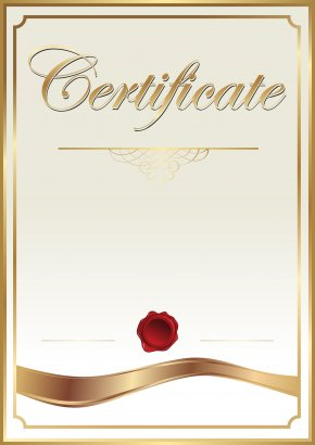 Certificate Template Clip Art Image - Template Academic Certificate Clip Art PNG