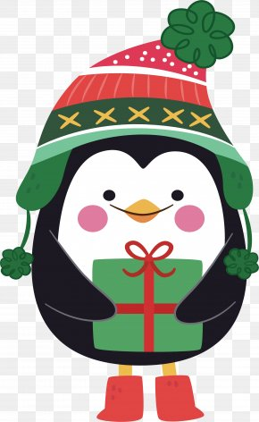 Christmas Penguin - Santa Claus Christmas Eve Christmas Card Gift PNG