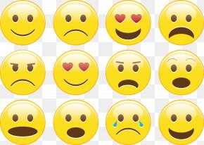 Vector Lovely Smile Set - Emoticon Smiley Sticker Icon PNG