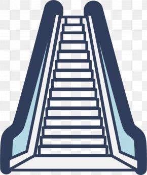 Cartoon Vector Escalator - Escalator Stairs Elevator PNG