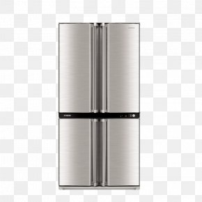 Multi Door Refrigerator - Home Appliance Refrigerator Sharp Corporation Air Purifier Liquid-crystal Display PNG