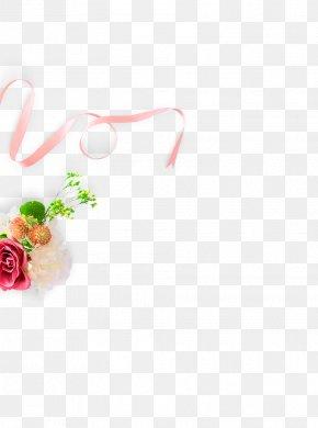 Pink Ribbon Bouquet Decorative Pattern - Pink Ribbon PNG
