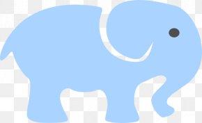 Elephant Outlines - Blue African Elephant Indian Elephant Clip Art PNG
