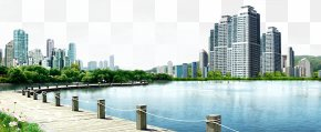 Lake View Garden City View - City Software Landscape Download PNG