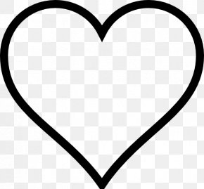 Hearts Black And White - Heart White Black Area Font PNG