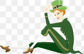 Saint Patrick's Day - Saint Patrick's Day Irish People Greeting Morning Clip Art PNG