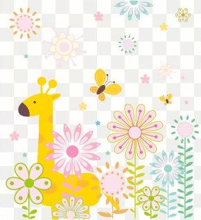 Cute Cartoon Giraffe Background - Giraffe Cartoon Illustration PNG