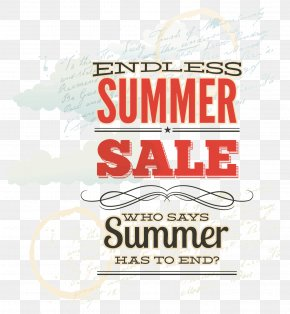 Red Summer Sign - Poster Typography PNG