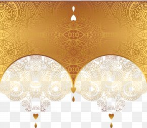 Luxury Gold Card - Ornament Gold Euclidean Vector PNG
