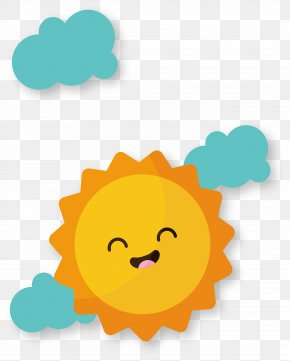 Cartoon Smiling Sun - Euclidean Vector Adobe Illustrator Computer File PNG