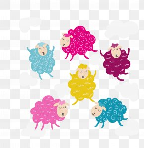 Vector Color Creative Cute Cartoon Empty Lamb - Sheep Birthday PNG