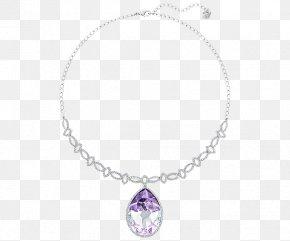 Swarovski Jewelry Women Necklace Purple - Swarovski AG Jewellery Necklace Gemstone Amethyst PNG