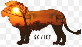 Lion - Lion Tiger Scar Digital Art PNG